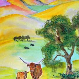 Susan  Clark - Longhorn Sunrise
