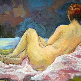 Alfons Niex - Lying Naked Woman