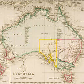 J Archer - Map of Australia and New Zealand