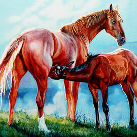 Hanne Lore Koehler - Mare With Foal