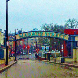 Bill Cannon - Market Street From Penns Landing Philadelphia