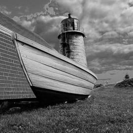 Joseph Rennie - Monhegan Island Lighthouse and Dory