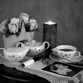 Sherry Hallemeier - Morning Coffee and Reading Magazine Time