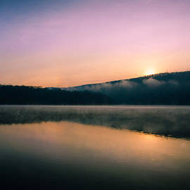 Jane Haslam - Morning mist on the lake