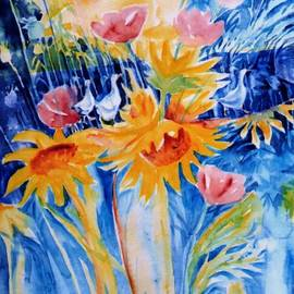 Trudi Doyle - My Summer Garden with Sunflowers