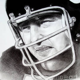 Jim Fitzpatrick - NFL Hall of Fame player Dick Butkus of the Chicago Bears