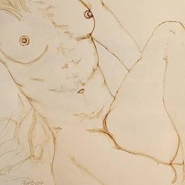 Rand Swift - Nude Torso in Ink