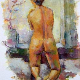 Alfons Niex - Nude With Bird