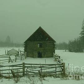 Jeff  Swan - Old Barn In A Snow Fall
