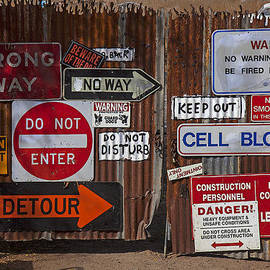 Garry Gay - Old gate with warning signs