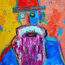 Ana Maria Edulescu - Old Man With Red Bowler Hat