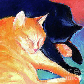 Svetlana Novikova - Orange and Black tabby cats sleeping