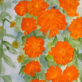 Sandy McIntire - Orange Zinnias
