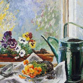 Barbara Pommerenke - Pansies For My Window Box