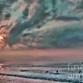 Jeff Breiman - Pastel Sky with Birds