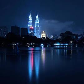 Zoe Ferrie - Petronas Towers taken from Lake Titiwangsa in KL Malaysia.