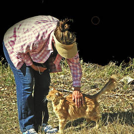 Lenore Senior and Dawn Senior-Trask - Petting the Ranch Cat