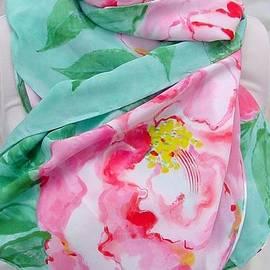 Morgan Silk - Pink Camelia silk crepe scarf