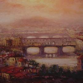 R W Goetting - Ponte Vecchio at dusk