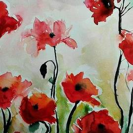 Ismeta Gruenwald - Poppies Meadow - abstract
