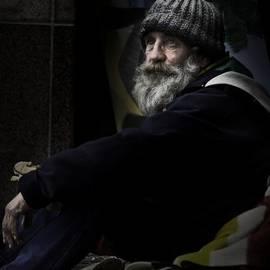 Sheila Smart - Portrait of a homeless man