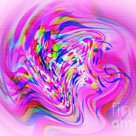 Kaye Menner - Psychedelic Swirls on Lollypop Pink