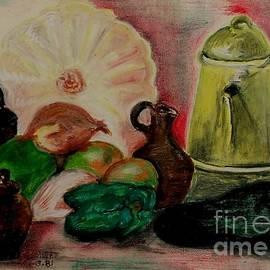 Caroline Street - Pumpkin and Yellow Teapot