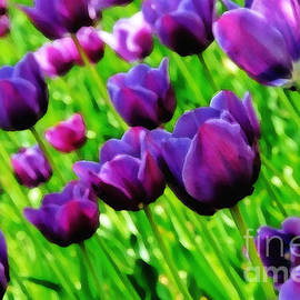 Lyle  Huisken - Purple Tulips