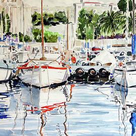 Giovanni Marco Sassu - Quattro barche al pennello di Bonaria
