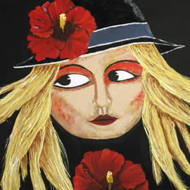 Susan McLean Gray - Red Hibiscus