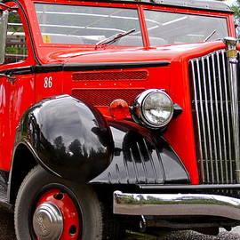Karon Melillo DeVega - Red Jammer Tour Bus Glacier National Park