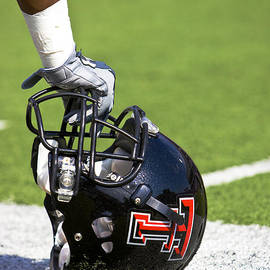 Michael Strong - Red Raider Helmet