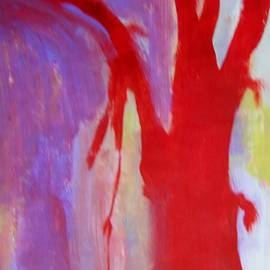 Judith Redman - Red Tree Abstract