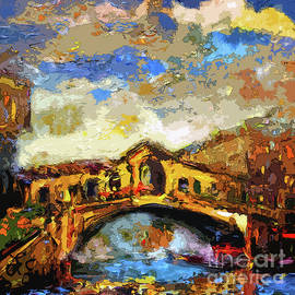 Ginette Fine Art LLC Ginette Callaway - Rialto Bridge Venice Abstract Decorative Art