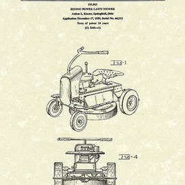 Prior Art Design - Riding Power Lawn Mower Patent Art