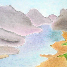 Soft Pastel Paintings - River