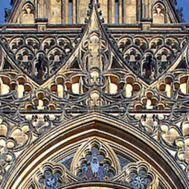 Christine Till - Rose Window - Exterior of St Vitus Cathedral Prague Castle