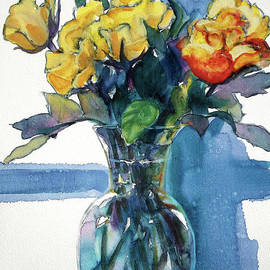 Kathy Braud - Roses in Vase Still Life I