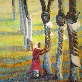 Art Nomad Sandra  Hansen - Rubber Tapping at Dawn