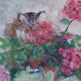Bonnie Wilber - Rudi in the Flowers