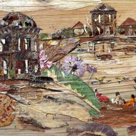 Basant Soni - Ruined Structures Near Pond