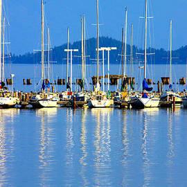 Karon Melillo DeVega - Sailboats Reflections