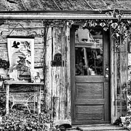 Linda Phelps - Salado Log Cabin BW
