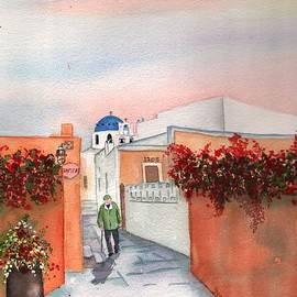Sharon Mick - Santorini Greece Street Scene