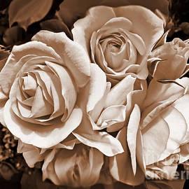 Jennie Marie Schell - Sepia Rose Flower Bouquet