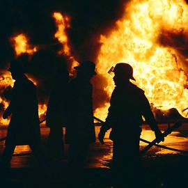 Randy Harris - Shilouetted Firemen