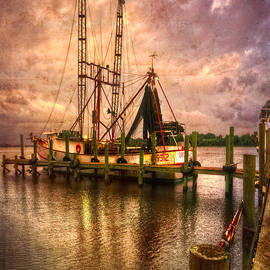 Debra and Dave Vanderlaan - Shrimp Boat at Sunset II