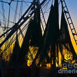 Al Powell Photography USA - Shrimp Net Sunset