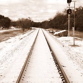 James Granberry - Snowy Railroad in Sepia