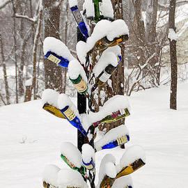 Snowy wine Bottle Sculpture